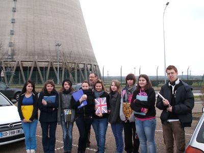 Visite de la centrale nucléaire de Belleville