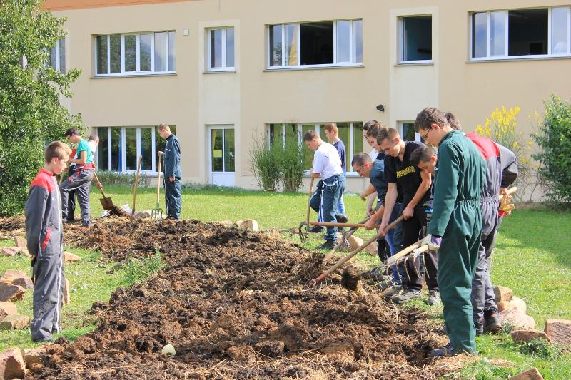 Les 2nde AP aménagent les espaces verts du lycée