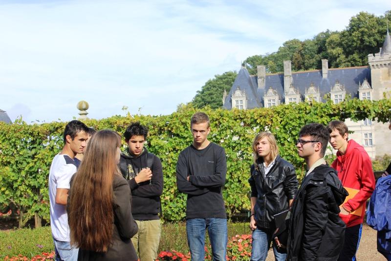 Voyage d'études des 1° AP du 07 au 09 octobre 2014 : Châteaux et jardins de Villandry et Chaumont-sur-Loire