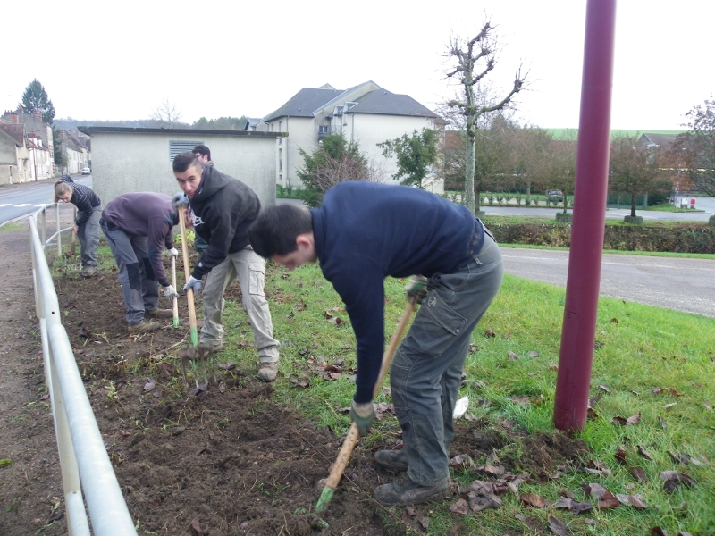 Partenariat avec le service espaces verts de la commune de Varzy